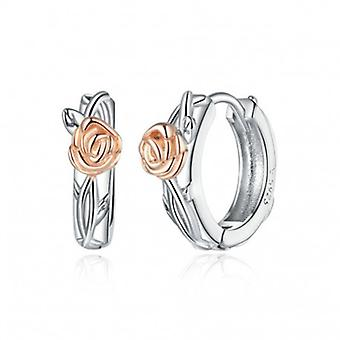 Silver Earrings Rose Vine - 7006
