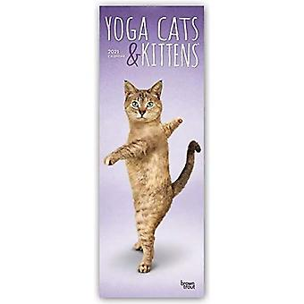 YOGA CATS KITTENS 2021 SLIMLINE BTUK