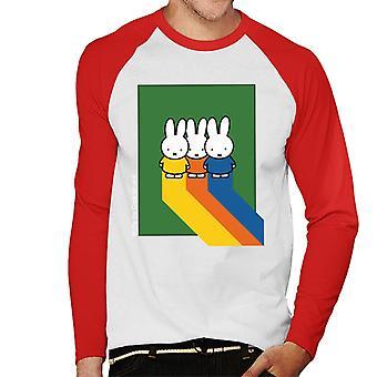 Miffy Klassiska Färger Män & Baseboll Långärmad T-Shirt