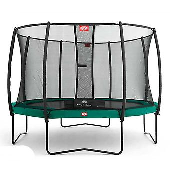 BERG green champion 270 9ft trampoline plus safety net deluxe
