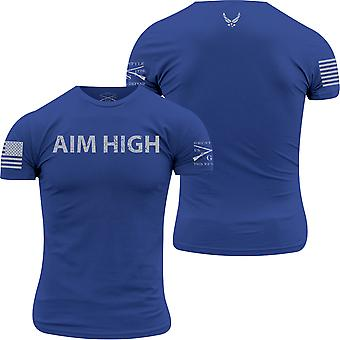 Grunt Stil USAF - Mål Høy T-skjorte - Kongeblå