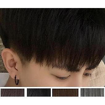 Men's Short Hair Straight Fluffy Realistic Wig