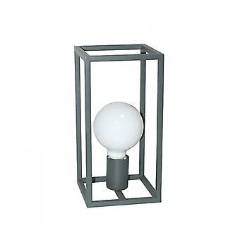 Lámpara De Escritorio Industrial Y Retro Sigalo Gris Arena