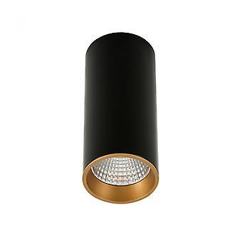 Lámpara De Techo Spot Técnica Y Moderna Moldes Big Bl / Go Ceiling 3000k Negro, Dorado