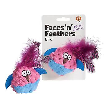 Sharples Faces N Feathers Bird Cat Toy