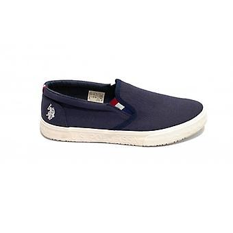 Shoes Us Polo Men's Slipon Mod. Joshua Canvas Vulcanized Blue Us20up29