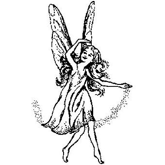 Fairy Wood Mounted Stamp