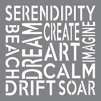 Decoart Stencil - Serendipity  8x8