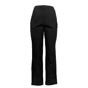 Denim & Co. Women's Pants Original Waist Stretch Side Pocket Black A375346