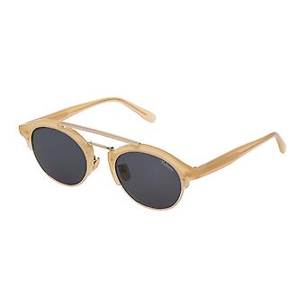 Mulberry Enyd SML006 01AG Shiny Opal Honey/Smoke ** Sunglasses