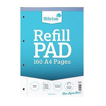 Silvine A4 Refill Pad Narrow Feint & Margin (6 Pack of 80 Sheets)