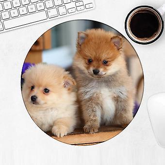 هدية Mousepad : بوميرانيان الزهور الكلب
