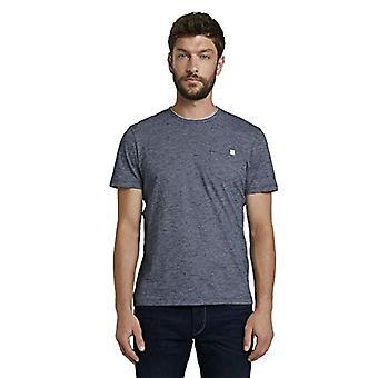 トム・テーラーポケットTシャツ、10435-ダークブルーストライプモデル、XLメンズ