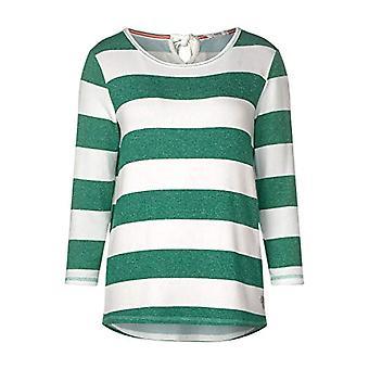 Cecil 314713 T-Shirt, Clover Green Melange, Medium Woman