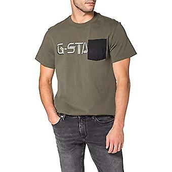 G-STAR RAW Ripstop Pocket Grafisk T-Shirt, Combat C336-723, L Man