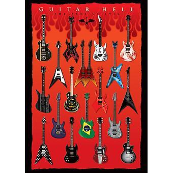 Pyramid International Guitar Hell The Axes of Evil Postcard