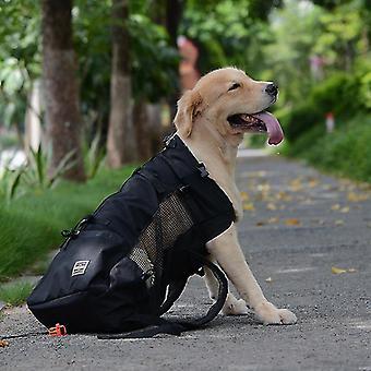 Adjustable reflective carrier bag for dogs - outdoor travel backset for hiking pl-367