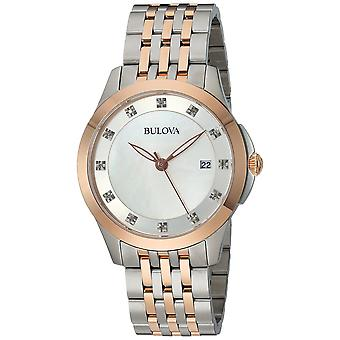 Bulova Classic Two-Tone Diamond Ladies Watch 98P162