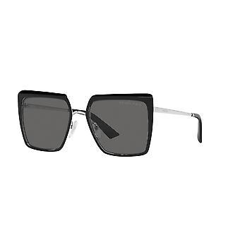 Prada SPR58W 1AB5Z1 Czarne/spolaryzowane szare okulary przeciwsłoneczne