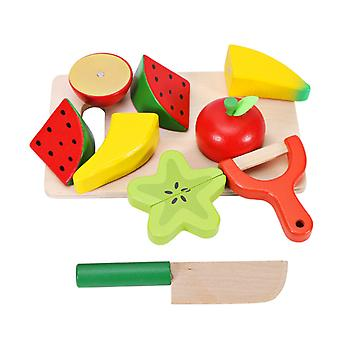 Simulation of fruits and vegetables, children's wooden kitchen toys
