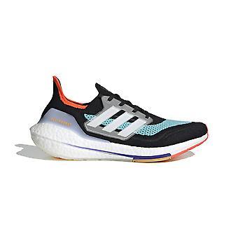 adidas Ultraboost 21 Men's Road Running Shoes, CoreBlack/CloudWhite/PulseAqua