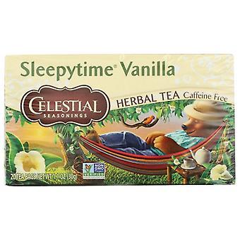 Celestial Seasonings Tea Herb Slpytime Vanla, Case of 6 X 20 Bags