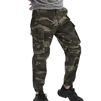 Yunyun Men's Camouflage Regular Taper Cargo Combat Military Relaxed-fit Casual Pants