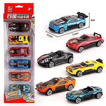 6pcs Children's Mini Racing Car Toy Engineering Car Model Slide Toy