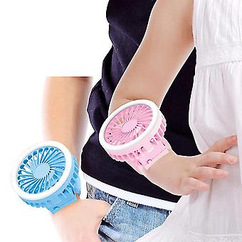 Sports Usb Charging Small Rechargeable Kids Portable Wrist Strap Mini Watch Hand(White)