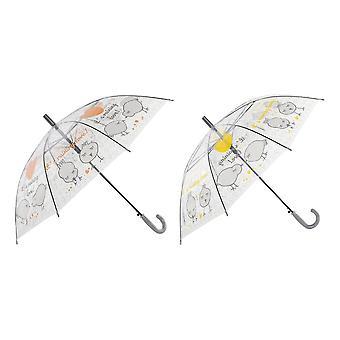 Sateenvarjo DKD Home Sisustus Keltainen Oranssi Ruostumaton teräs ABS PoE (2 kpl)