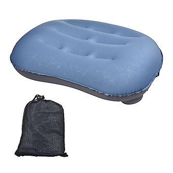 Blue inflatable air pillow tpu camping trip nap neck pillow for outdoor travel aircraft sleeping soft neck pillows