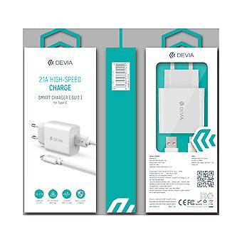 Laddarens inställda | USB-laddare Snabbladdning 2.1 USB-väggladdare och 1M USB C-kabel snabbladdare komaptibel med Galaxy S21 S20 S10 S9 Plus A21 A20e A50 A51