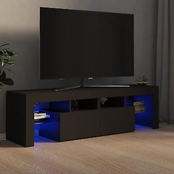 """vidaXL ארון טלוויזיה עם נורות LED אפור 140x35x40 ס""""מ"""