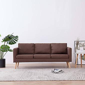 vidaXL 3 siège canapé tissu brun