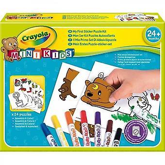 Crayola - Mini Kids - Mitt första klistermärke pussel - Färgning för barn och småbarn