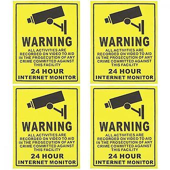 Klebende 24-Stunden-Sicherheitswarnzeichen