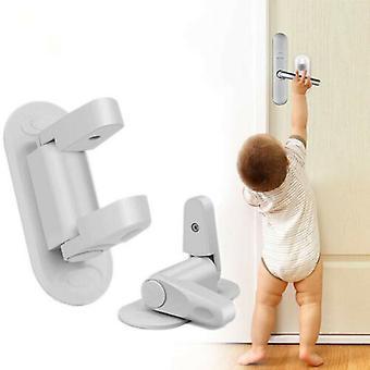2 حزم مقبض الباب قفل السلامة يعالج الأبواب دليل سلامة الطفل للأطفال