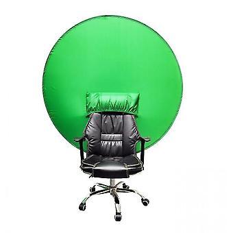 Portable Green Screen Backdrop,   Zoom Virtual, Home Office, Camera, Travel(142cm)