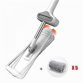 Handless Squeeze Mop, Microfiber Floor Cleaning Tool, Wet And Dry, Household, No Blind Spots