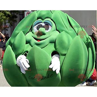 Gigantisk grønn artisjokk REDBROKOLY.COM maskot