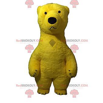 Maskottchen REDBROKOLY.COM gelben Teddybären aufblasbar, gelber Bären-Verkleidung