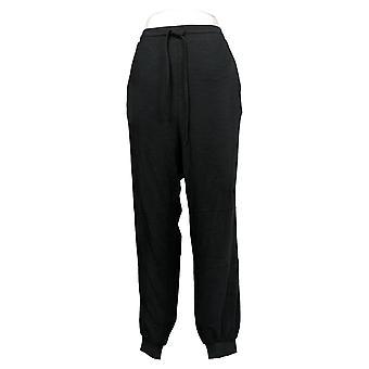 Modern Soul Women's Plus Pants Modern Knit Joggers Black 689729