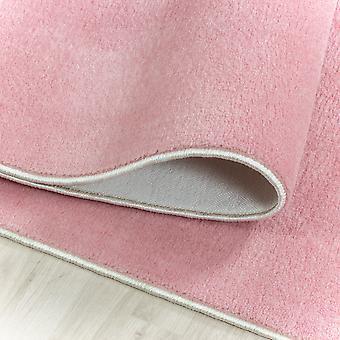 Lavable Antideslizante Suave Tacto Alfombra de Pila Corta Rosa