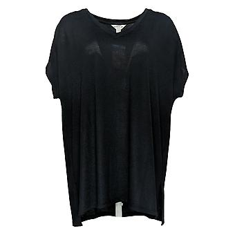 Orvis Women's Top (XXL) Ladies' Short Sleeve V-Neck Tunic Black