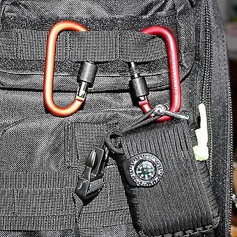 Paracord 8cm moschettone in alluminio clip catena per campeggio (rosso)
