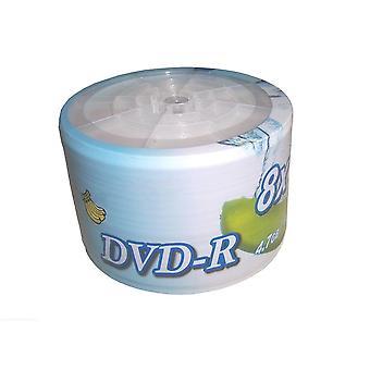 50pcs Dvd R Dl 4.7gb Weiß Cover Inkjet Bedruckbar 8x Blank Media Disc