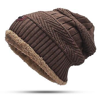 Män Kashmir Halsduk och Hatt Set Solid Color Neutral Halsduk hatt Utomhus Tillbehör 2 Stycken