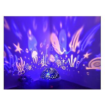 Kinderen 2 in 1 sterren projector roterend nachtlampje kerstcadeaus