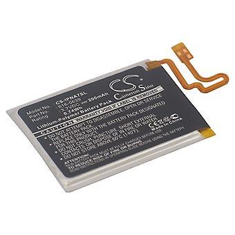 Battery for Apple A1446 iPod Nano 7th Gen 7 616-0639 616-0640 MP3 Player 200mAh