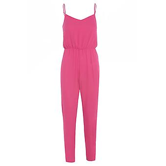 New Look Pink Sateen Jumpsuit